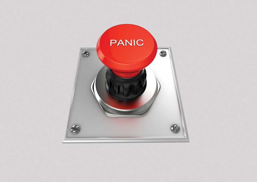 Panic button in the wet kitchen