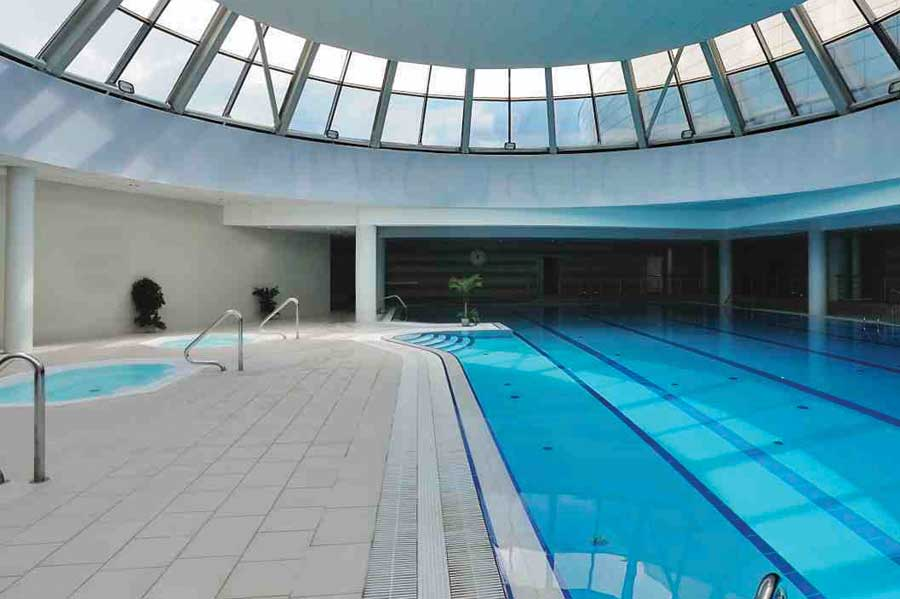 Semi-Olympic size Temperature Controlled Indoor Swimming Pool