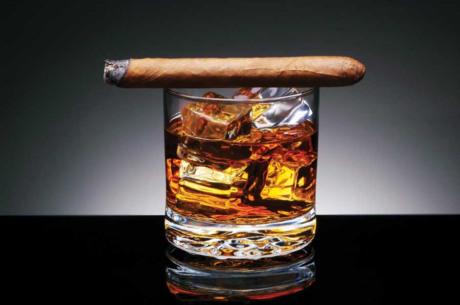 Single Malt and Cigar Lounge with Billiards Table