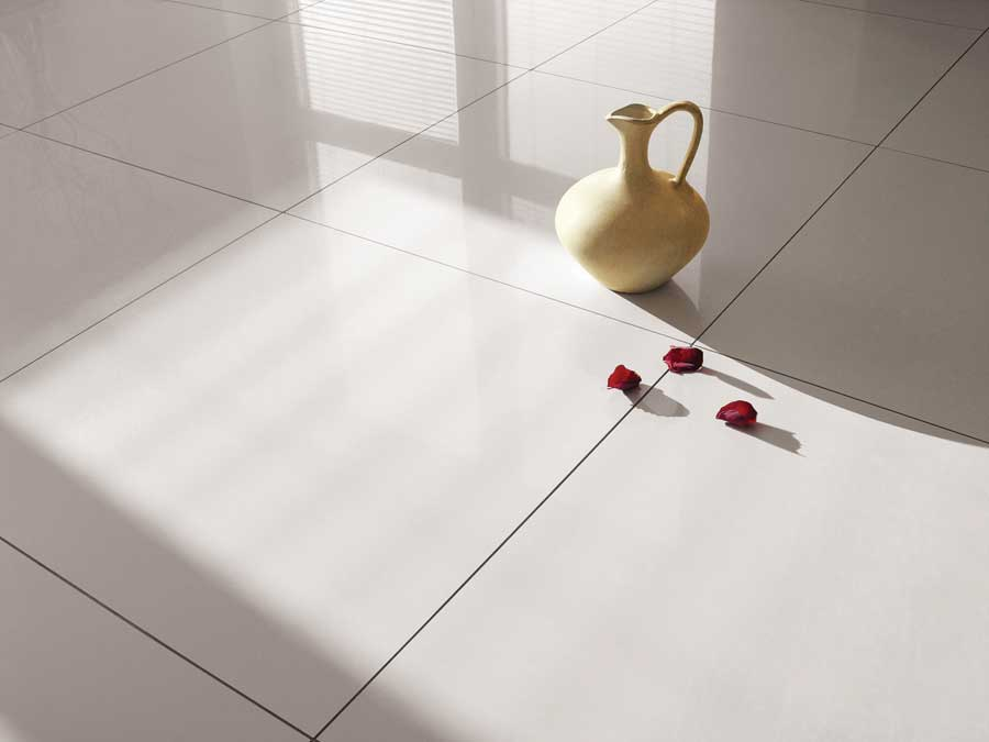 Vitrified Tiles in wet kitchen and service zone