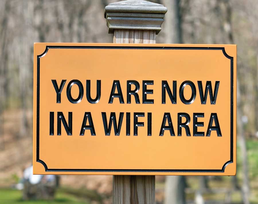 Entire Town Centre campus is a WiFi Hotspot.