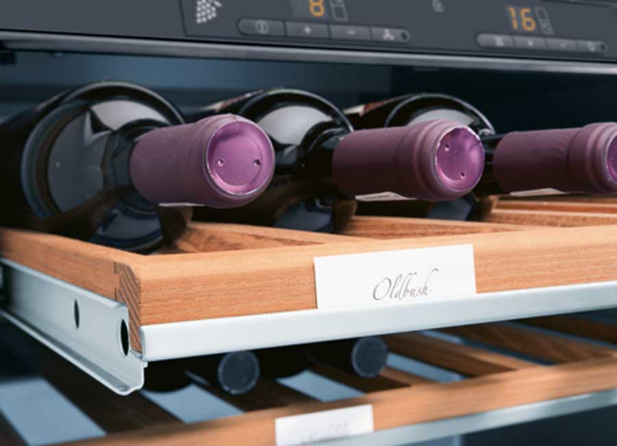 Siemens or Miele 32-38 bottle built-in Wine Cooler with electronic controls